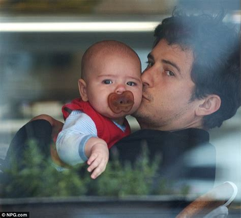 orlando bloom baby orlando bloom bonds with baby flynn while his model wife