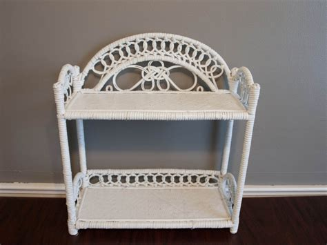 Wicker Bathroom Shelves White Wicker Shelf Wicker Shelf Bathroom Shelf By Bettysantiques