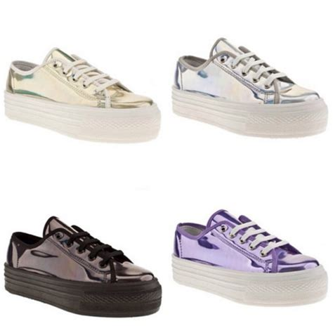 shoes sneakers transparent platform sneakers laces