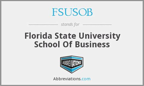Florida State Mba Stats by Fsusob Florida State School Of Business