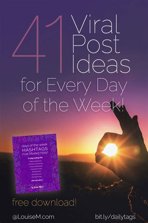 hashtags for days of the week to skyrocket your visibility