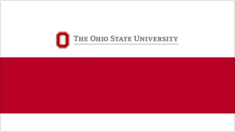 college powerpoint template presentations ohio state brand guidelines