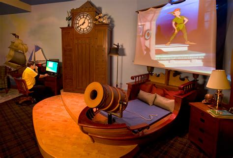 peter pan bedroom off to never land in innoventions at disneyland park