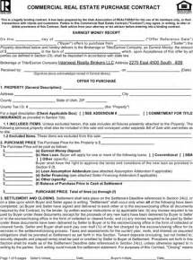 Commercial Real Estate Purchase Agreement Template utah offer to purchase real estate form for excel pdf and