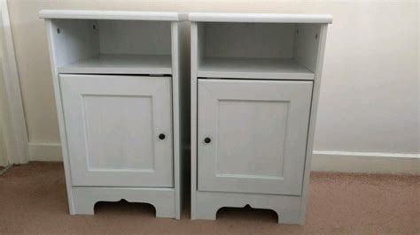 White Nightstands Ikea by Two Ikea Aspelund White Bedside Tables Nightstands 163 25 For