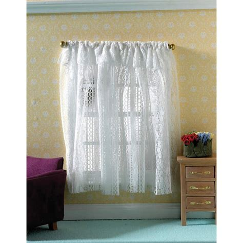 white house curtains white lace curtains for 1 12 scale dolls house 4180