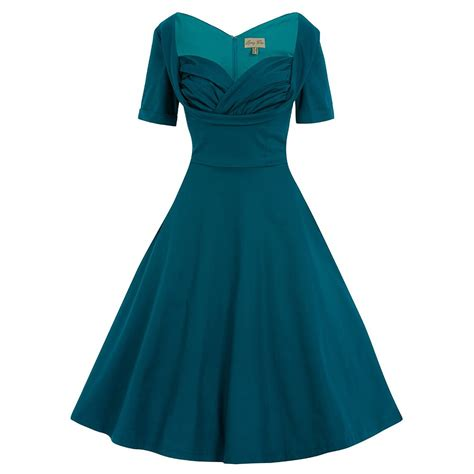 teal swing dress sloane teal swing dress vintage style dresses lindy bop