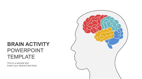 brain template brain activity powerpoint template