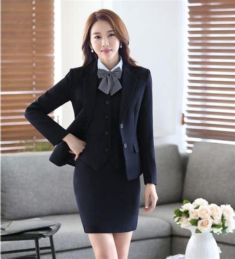 Vest Set Blazer Dress Skirt formal blazer business suits with skirt jacket