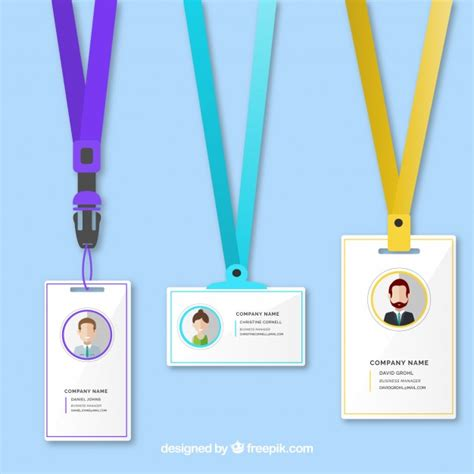 free id card template vector identification card template vector free