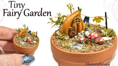 tiny fairy garden polymer clay tutorial youtube