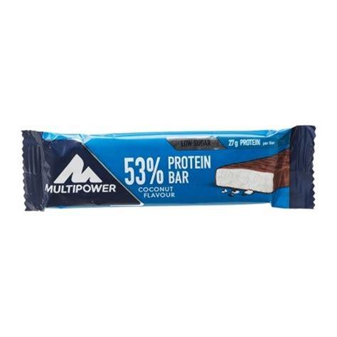 x protein bar 6 x multipower 53 protein bar kokos nu3
