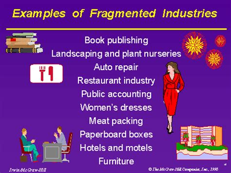 exles of fragmented industries