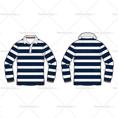 pattern for rugby shirt men s classic rugby shirt fashion flat template