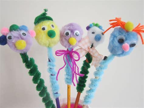 pencil topper crafts for springy pom pom pencil toppers pencil toppers craft and