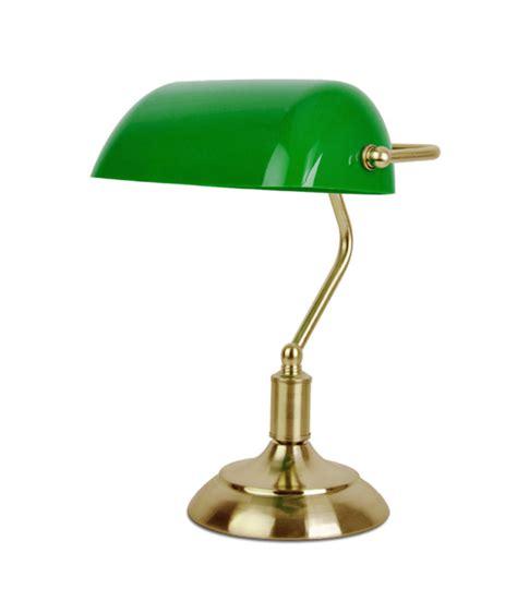 green shade bankers desk l brass bankers library desk top vintage l green glass