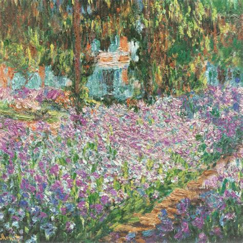 claude monet the artist s garden at giverny poster