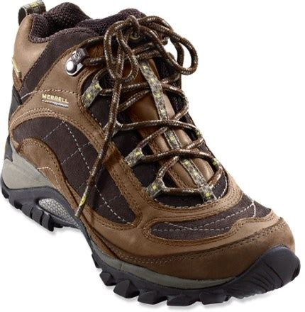 hiking boots rei merrell siren waterproof mid leather hiking boots