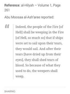 When A Righteous Sheds Blood In Hell by Salaf Quotes Naseeha From Abdullah Bin Masood Ra