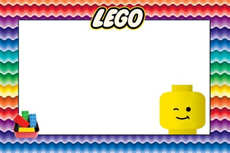 lego birthday card template lego free printable invitations oh my in