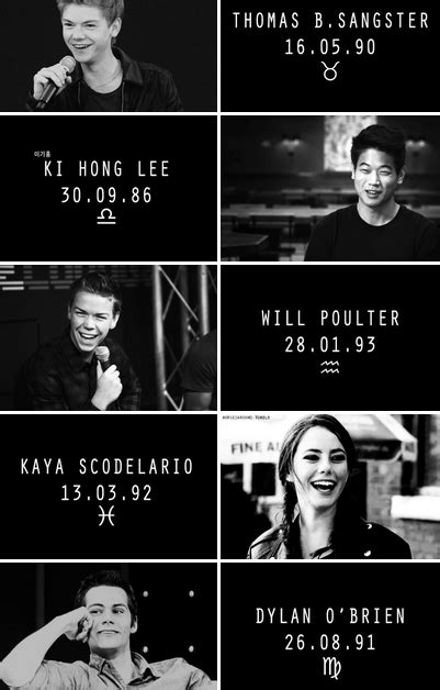 The Maze Runner Cast + Birthdays and their Signs | Maze