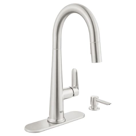 grohe feel kitchen faucet grohe feel supersteel infinity pull down kitchen faucet