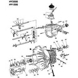 Chrysler Transmission Parts Nv3500 Chervy Dodge Dakota And S10 Illustration