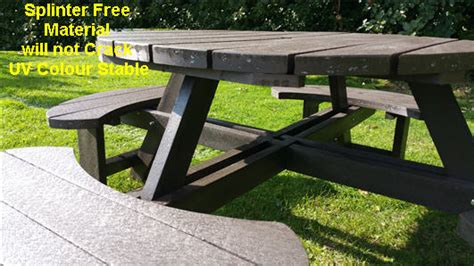 chs weight bench recycled plastic composite picnic table bench excalibur