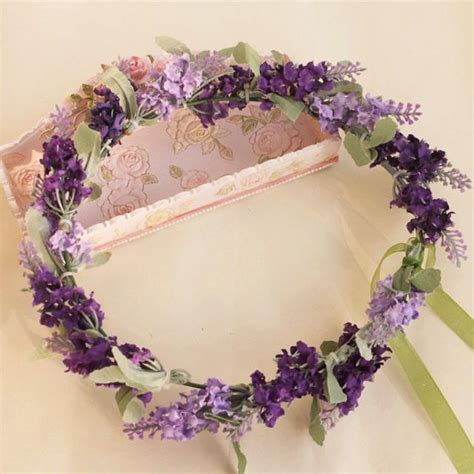 how to create a flower wreath hair piece my view on fashinating purple flower crown lavender flower hair wreath floral