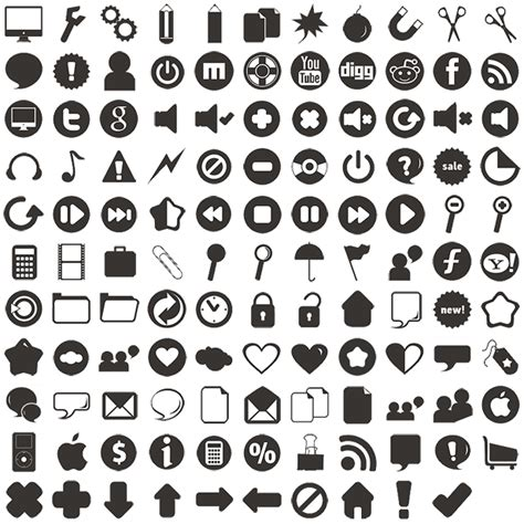 Gizi Pack 120 simple icons 121 free icons icon search engine