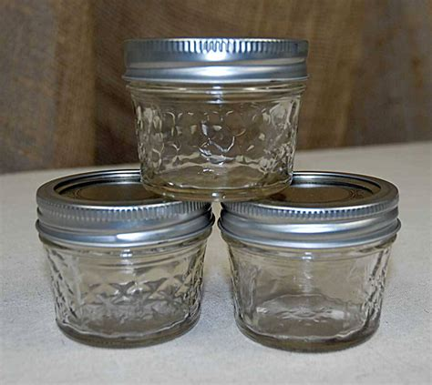 4 Oz Quilted Jelly Jars by 12 4oz Quilted Jelly Jars
