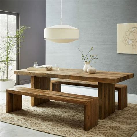 expandable wood dining table emmerson reclaimed wood expandable dining table elm