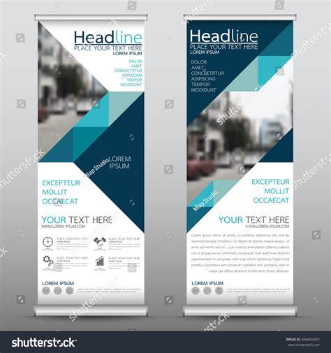 design x banner cdr blue roll up business brochure flyer banner design