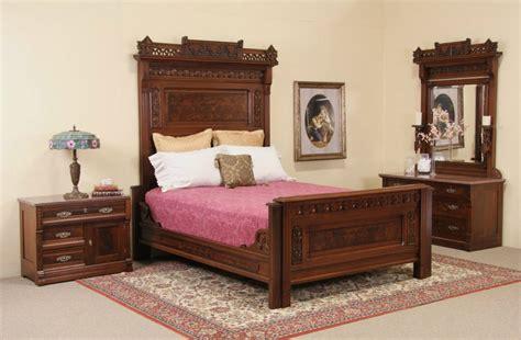 eastlake bedroom set sold eastlake antique queen bedroom set chest with