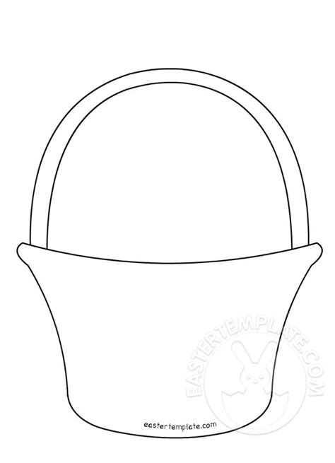 paper basket template printable easter template