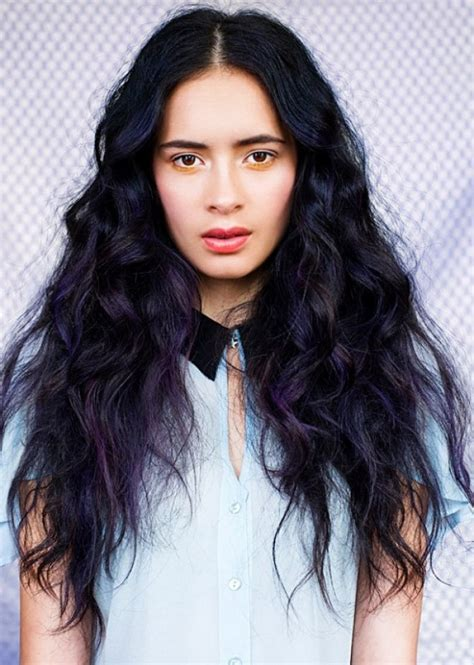 black hair color with highlights ideas hairs picture gallery dark hair and purple highlights hair colors ideas