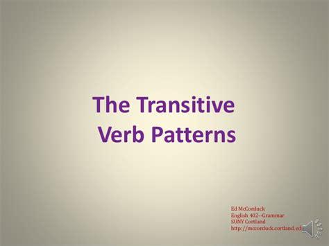 english grammar pattern 1 english grammar lecture 11 the transitive verb patterns