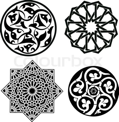 arabesque pattern dwg islamic patterns stock vector colourbox