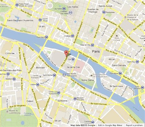 Conciergerie on Map of Paris World Easy Guides