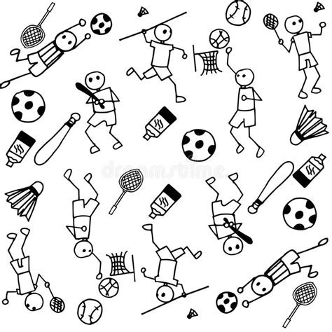 doodle sports free vector sports of doodle stock vector image 70645061