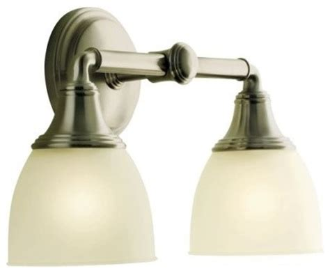 Kohler Devonshire Bathroom Lighting Kohler K 10571 Bn Devonshire Wall Sconce In Brushed Nickel Traditional Bathroom