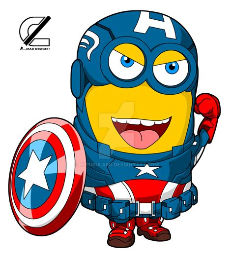 captain america minion wallpaper captain america by kururulabo on deviantart