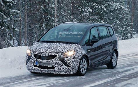 opel zafira 2017 2017 opel zafira facelift spied with less camouflage