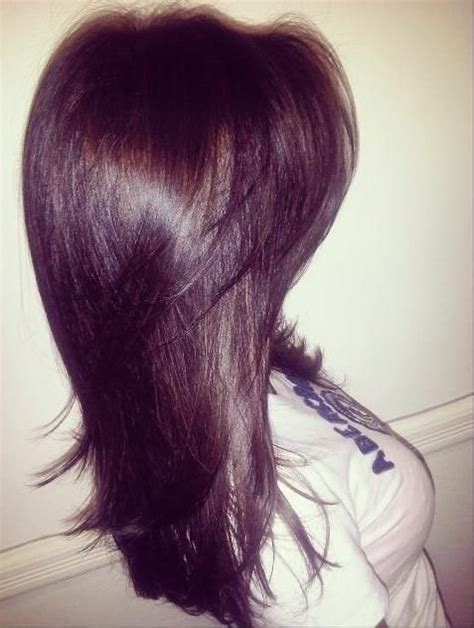 hairstyles short layered on top long on bottom 14 best images about violet brown hair on pinterest