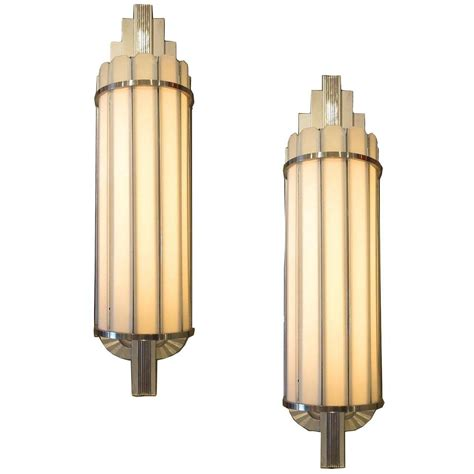Theater Sconce Lights deco large theater wall sconces at 1stdibs