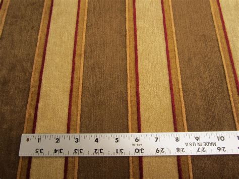 stripe chenille upholstery fabric 5 5 8 yards of chenille stripe upholstery fabric