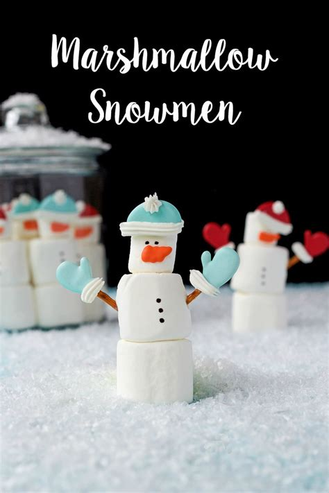 Royal Icing Transfers The Bearfoot Marshmallow Snowmen The Bearfoot Baker