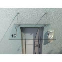auvent marquise de porte d entr 233 e verre tremp 233 transparent