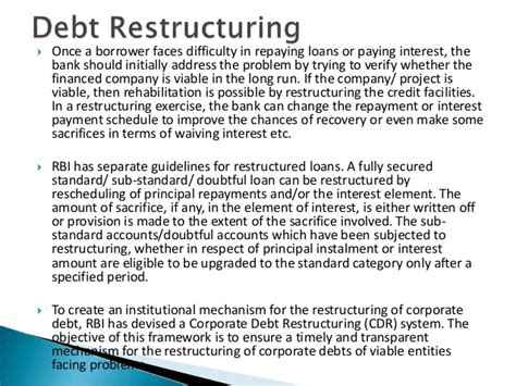 Letter For Loan Restructure Bank Lendings And Loans Ppt