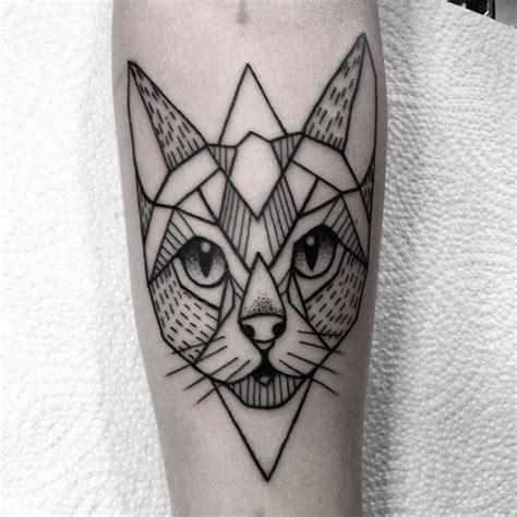 tattoo cat geometric best 25 geometric cat tattoo ideas on pinterest